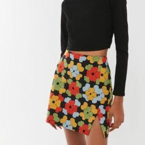 NWT UO Darren Notched Pelmet Mini Skirt S/P